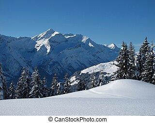 Beautiful winter scenery in the Bernese Oberland