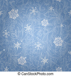 Beautiful winter seamless pattern - Snowflakes and frost...