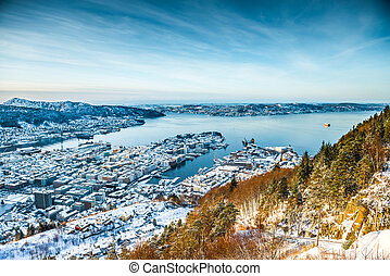 winter view on Bergen - beautiful winter view on Bergen....