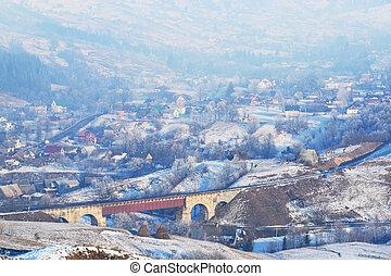Beautiful winter village