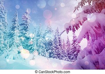 beautiful wintry landscape - Majestic winter landscape...