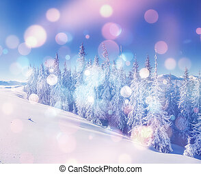 beautiful wintry landscape - Majestic winter landscape...