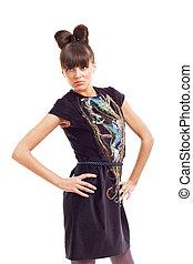 beautiful woamn wearing elegant dress