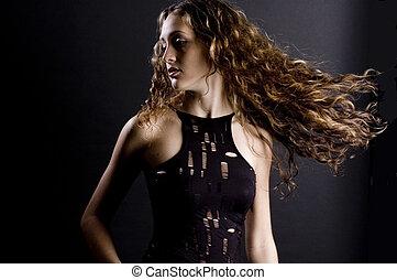 Beautiful Woman - A beautiful young woman with amazing long ...