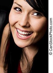 Beautiful woman - A headshot of a beautiful smiling woman