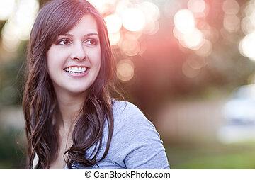 Beautiful woman - A portrait of a smiling beautiful woman