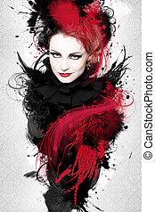 Beautiful woman, Artwork