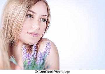 Beautiful woman at spa