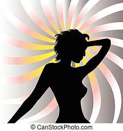 Beautiful woman background