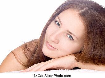 beautiful woman beautiful woman in spa salon