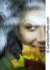 Beautiful woman close-up portrait