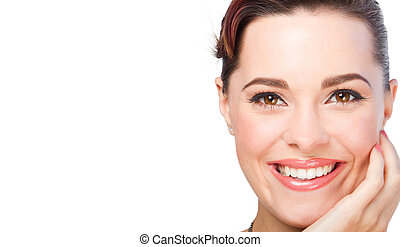 beautiful woman closeup