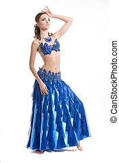 Beautiful woman dancing