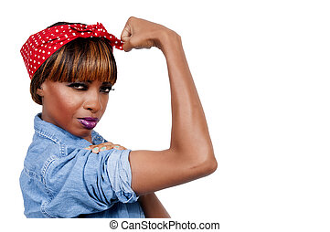 Rosie the Riveter - Beautiful woman dressed as the iconic ...