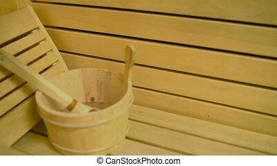 Beautiful Woman Enjoying Sauna - Beautiful cheerful woman...