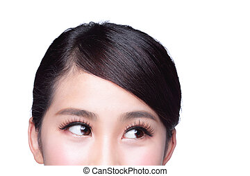 Beautiful woman eye look