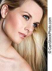 Beautiful Woman Face - Closeup face of beautiful woman