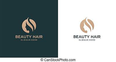beautiful woman face logo design inspiration