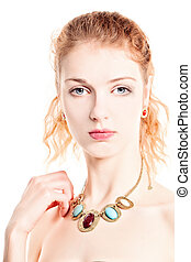 Beautiful Woman Fashion Model. Beauty Portrait