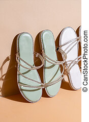 woman fashion shoes or sandals
