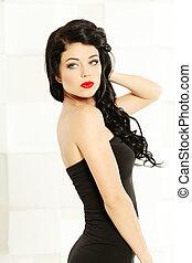 Beautiful woman, fashion shoot