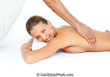 Beautiful woman getting a spa treatment