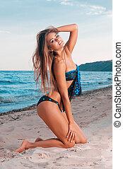beautiful woman in a bathing suit