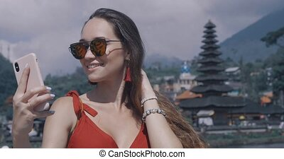 Beautiful woman in Bali
