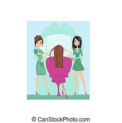 Beautiful woman in beauty salon
