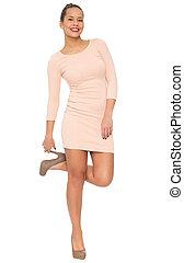 Beautiful Woman in Elegant Dress