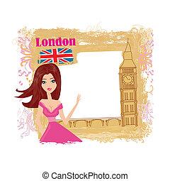 Beautiful woman in London