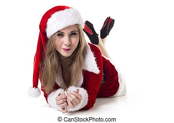 Woman In Santa Costume
