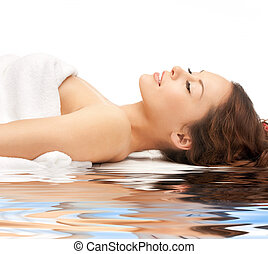 beautiful woman in spa salon - picture of beautiful woman on...