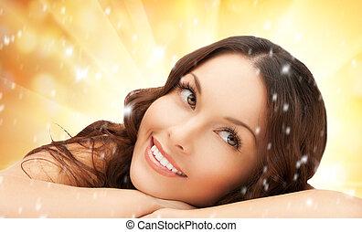 beautiful woman in spa salon - picture of beautiful woman in...