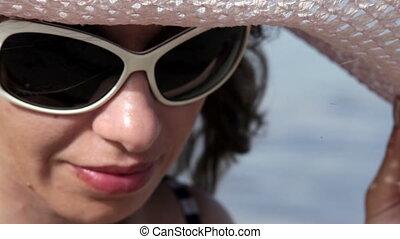 beautiful woman in sunglasses