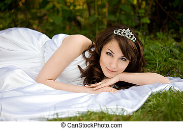 beautiful woman in the fairy-tale forest