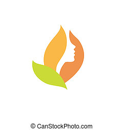 Beautiful woman is like a flower - Vector beauty logo