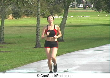 Beautiful Woman Jogging (1)