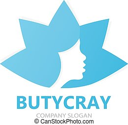 Beautiful woman logo design template