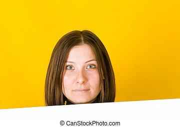 Beautiful woman looking at camera.
