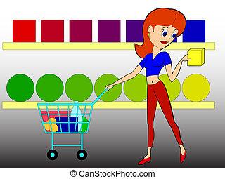 shopping - beautiful woman makes shopping