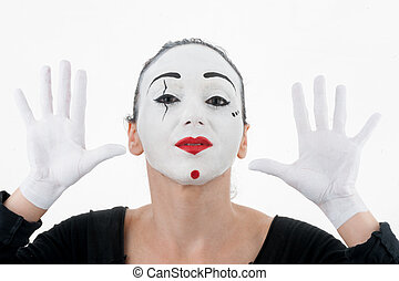 Beautiful Woman Mime