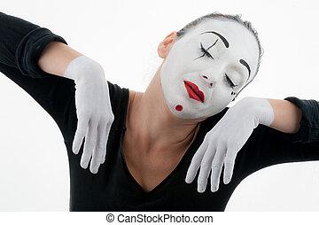 Beautiful Woman Mime