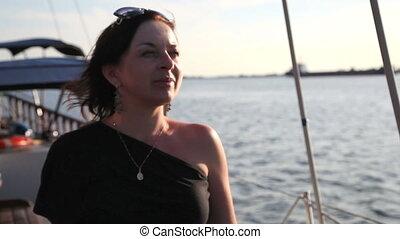 beautiful woman on a yacht 1
