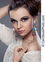 Beautiful woman portrait with Makeup