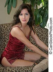 Beautiful Woman Posing in lingerie