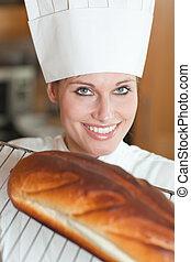 Beautiful woman preparing meal