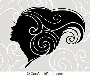Beautiful woman silhouette