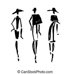 Beautiful Woman silhouette.