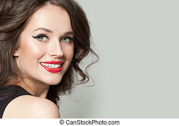 Beautiful woman smiling portrait